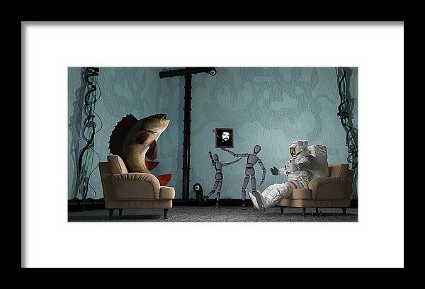 Conversing With Demons At 2 Am Framed Print featuring the digital art Conversing With Demons At 2 Am by Brainwave Pictures