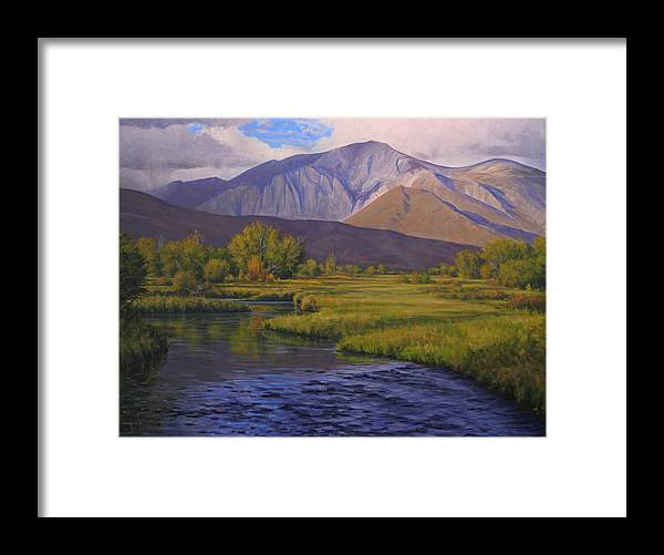 High Sierras Framed Print featuring the painting Convict Creek-eastern Sierras by Joe Mancuso