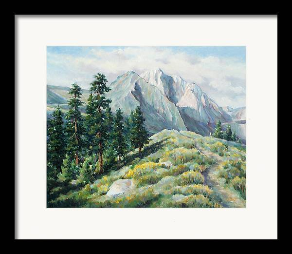 Landscape Framed Print featuring the painting Convict Lake Guardians by Don Trout