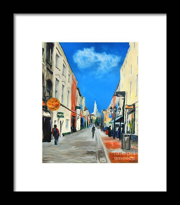 Architectural Framed Print featuring the painting Cook Street  Cork Ireland by Anne Marie ODriscoll