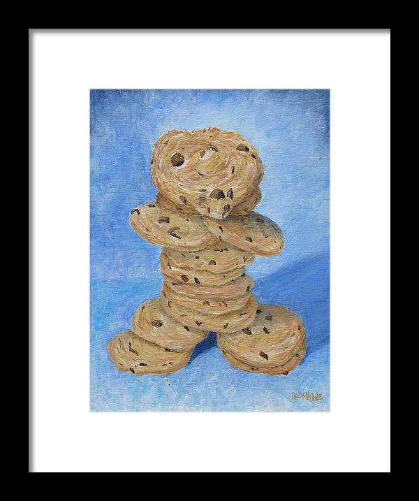 Cookies Framed Print featuring the painting Cookie Monster by Nancy Nale
