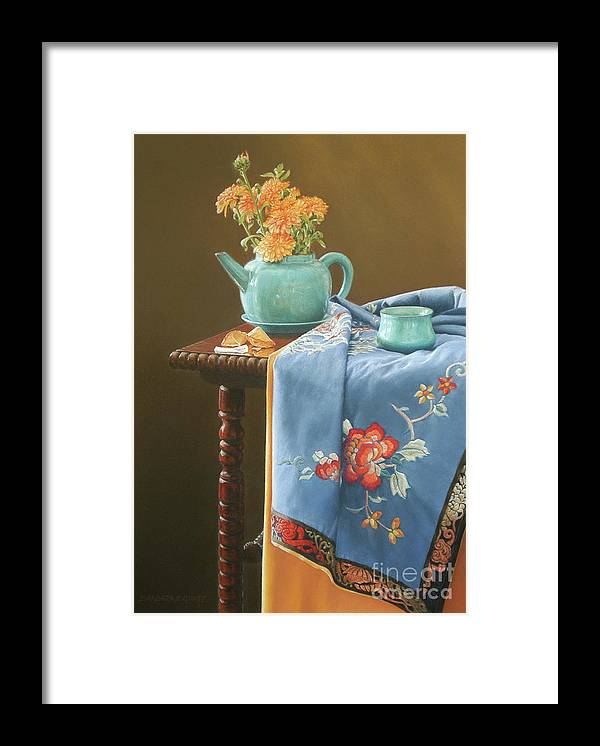 Still Life Framed Print featuring the painting Cookie's Fortune by Barbara Groff