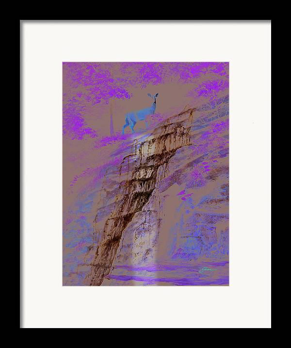 Landscape Framed Print featuring the painting Cool Cascade by Harold Shull