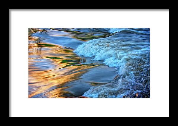 Nature Framed Print featuring the photograph Cool Liquid Gold by Zayne Diamond Photographic