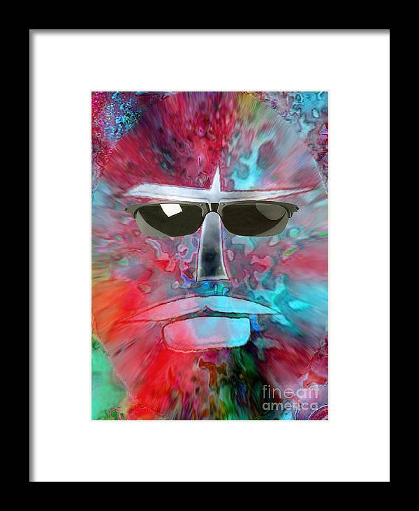 Halloween Framed Print featuring the digital art Cool Monster by Mimo Krouzian