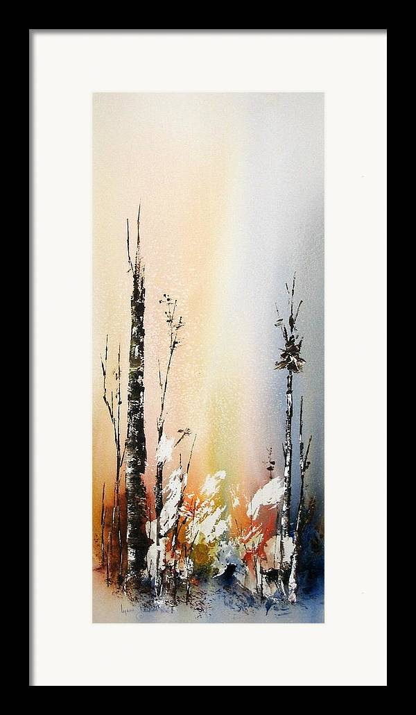 Snowey Scene Framed Print featuring the painting Cool Spring by Lynne Parker