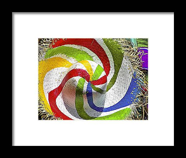 Straw Framed Print featuring the photograph Cool Summer Hat by Christine Till