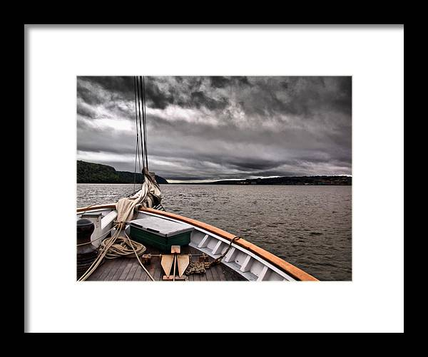 Boat Framed Print featuring the photograph Cool Winds On The Hudson by Valerie Morrison