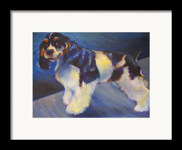 Framed Print featuring the painting Cooper by Kaytee Esser