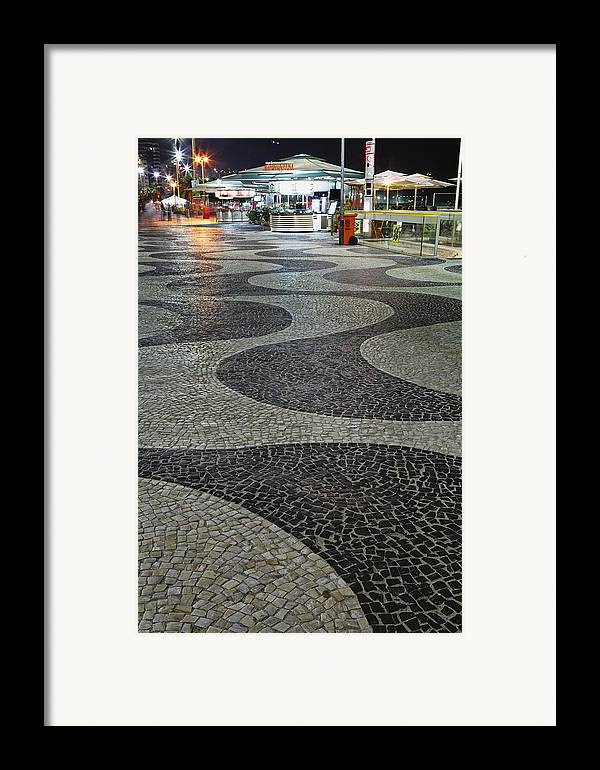 Atlantic Ocean Framed Print featuring the photograph Copacabana Night by George Oze