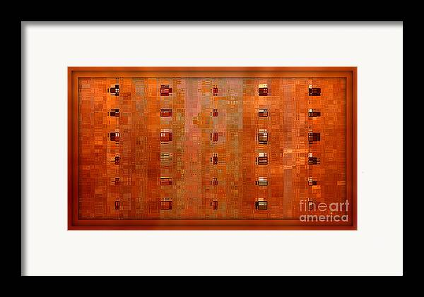Digital Art Abstract Framed Print featuring the digital art Copper Abstract by Carol Groenen