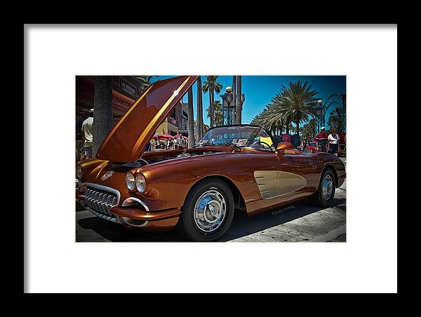 Chevrolet Framed Print featuring the photograph Coppertone Spf 57 by DigiArt Diaries by Vicky B Fuller