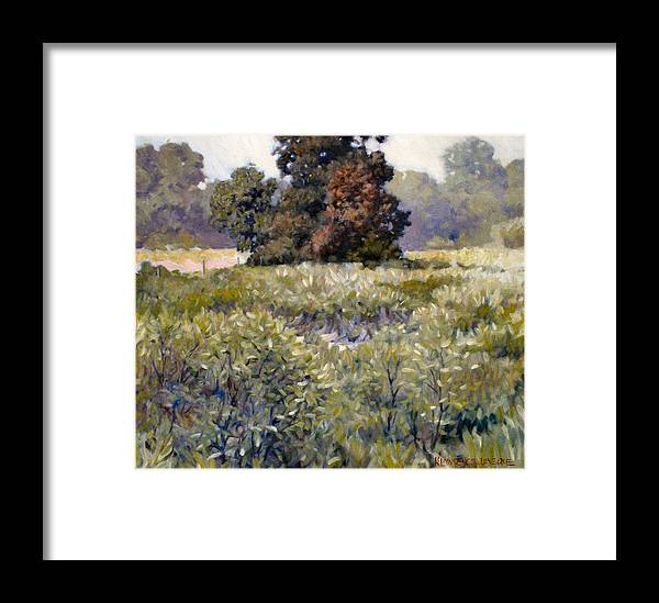 Landscape Framed Print featuring the painting Copse by Kevin Lawrence Leveque