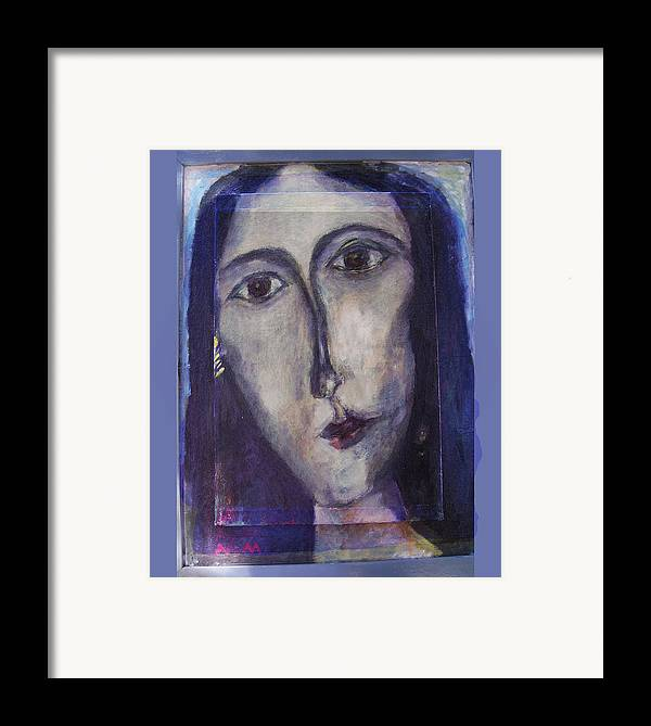 Portrait Framed Print featuring the mixed media Coptic by Noredin Morgan