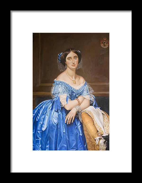 Ingres Framed Print featuring the painting Copy After Ingres by Rob De Vries