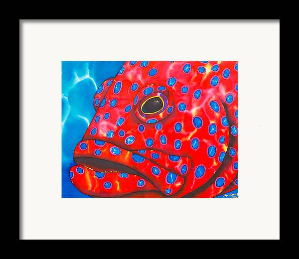 Grouper Painting Framed Print featuring the painting Coral Groupper II by Daniel Jean-Baptiste