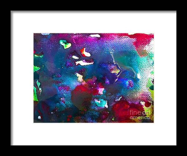 Glimpse Art Framed Print featuring the painting Coral Life by Bii Bii