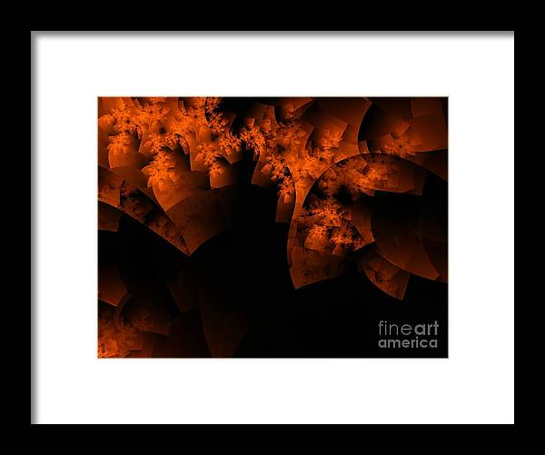 Coral Reef Framed Print featuring the digital art Coral Reef by Ron Bissett