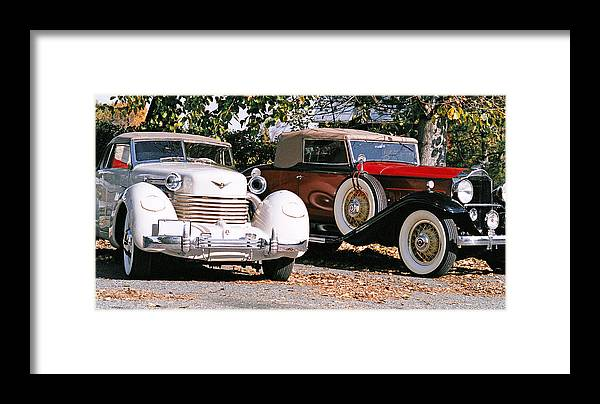 Cars Framed Print featuring the photograph Cord Packard by Paul Trunk