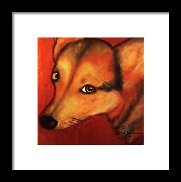 Dog Art Framed Print featuring the painting Corgi- Ellie Mae by Laura Grisham
