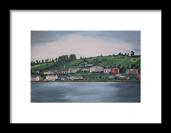 Landscape Framed Print featuring the painting Cork City Ireland by Kevin Callahan