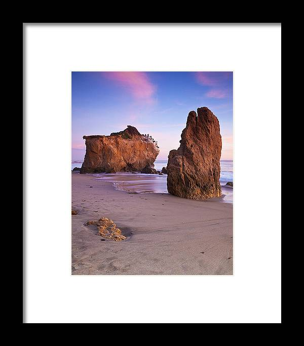 Beaches Framed Print featuring the photograph Cormorant Roost After Sundown by Greg Clure