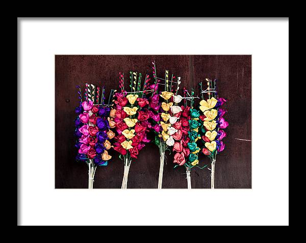 Colors Framed Print featuring the photograph Corn Husk Flowers by IK Hadinger