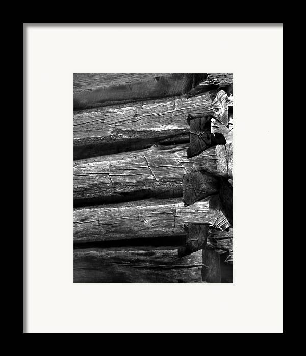 Ansel Adams Framed Print featuring the photograph Corner-logs by Curtis J Neeley Jr