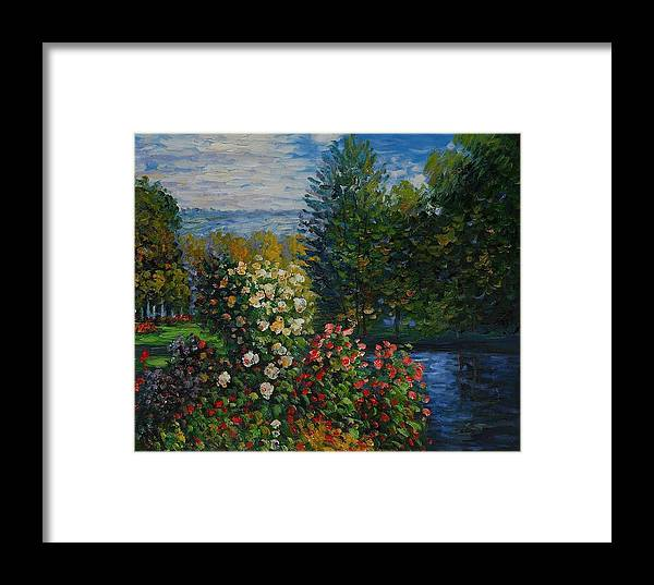 Monet Framed Print featuring the painting Corner Of The Garden At Montgeron by Claude Monet