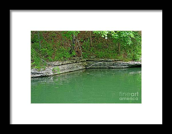 Lake Framed Print featuring the photograph Corner Of The Lake by Diane Friend