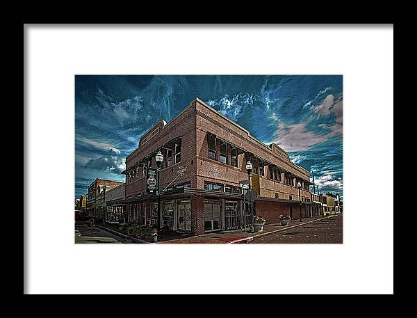 Hdr Color Photography Framed Print featuring the photograph Corner Pub by Wayne Denmark
