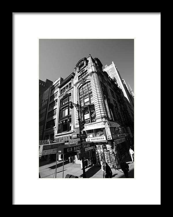 Buildings Framed Print featuring the photograph Corner Store In The City by Mary Haber
