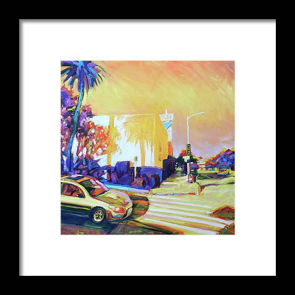 Blue Framed Print featuring the painting Corners by Bonnie Lambert