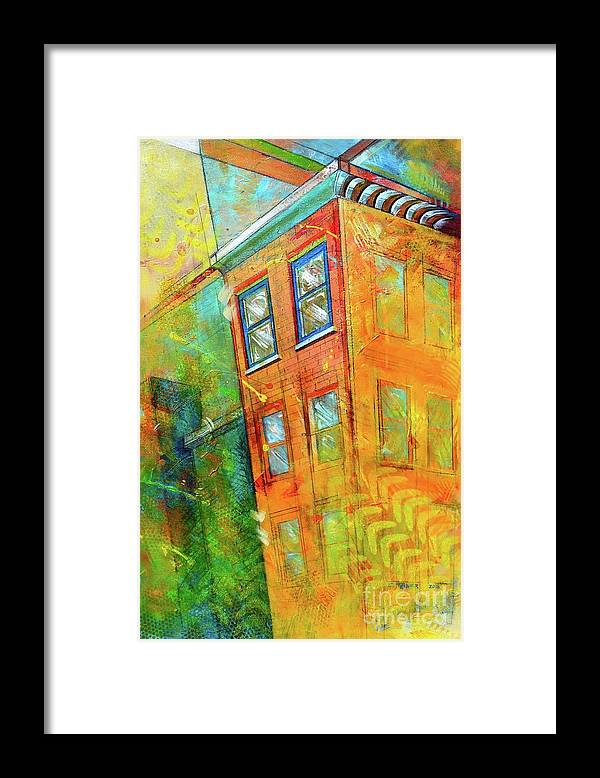 Building Framed Print featuring the painting Cornice by Christopher Triner