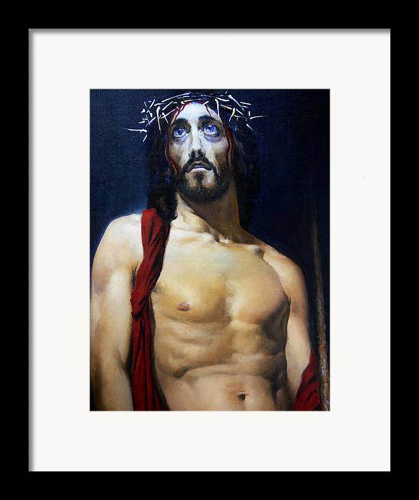 Altar Framed Print featuring the painting Coronation B by Valeriy Mavlo