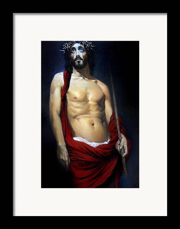 Altar Framed Print featuring the painting Coronation by Valeriy Mavlo