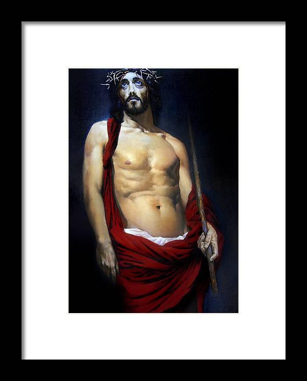 Altar Framed Print featuring the painting Coronation by Valeriy Mavlo