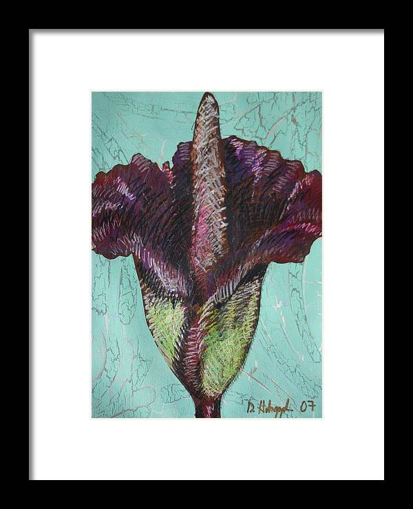 Corpse Framed Print featuring the painting Corpse Flower by Dodd Holsapple