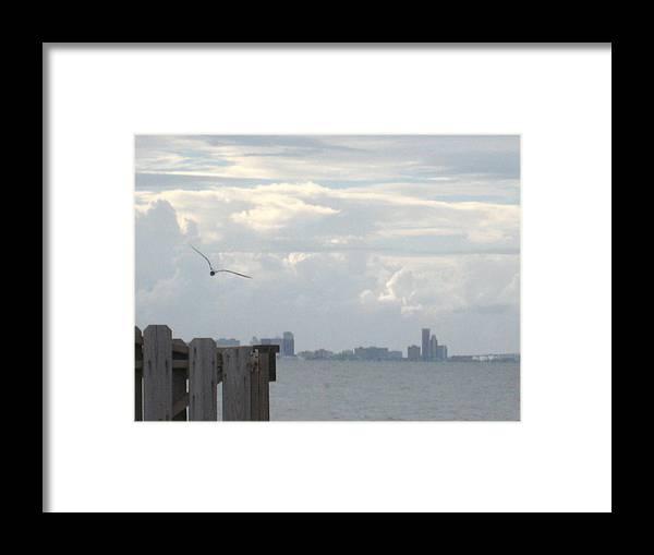 Coastal Framed Print featuring the photograph Corpus Christi Bay by Diann Baggett