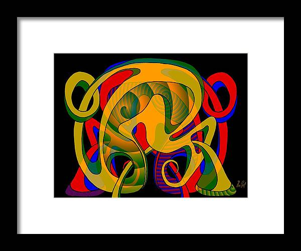 Life Framed Print featuring the digital art Corresponding independent Lifes by Helmut Rottler