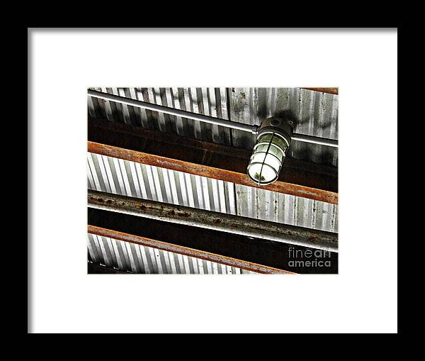 Metal Framed Print featuring the photograph Corrugated Metal Abstract 10 by Sarah Loft