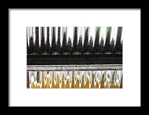 Metal Framed Print featuring the photograph Corrugated Metal Abstract 8               by Sarah Loft