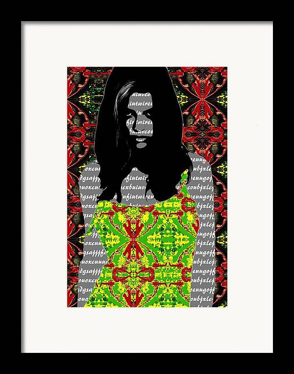 Fashion Framed Print featuring the painting Corrupted by Bharat Gothwal