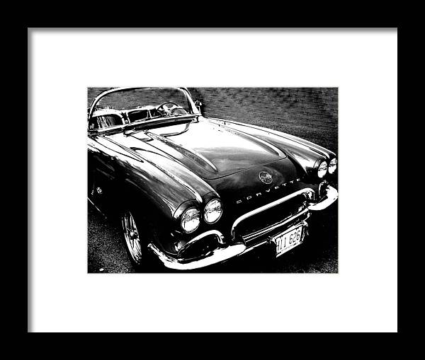 Car Framed Print featuring the photograph Corvette by Audrey Venute