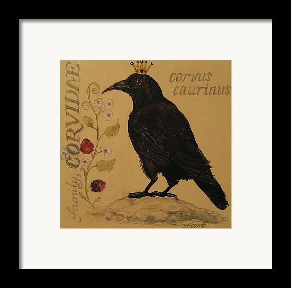 Crow Framed Print featuring the painting Corvus Caurinus by Victoria Heryet