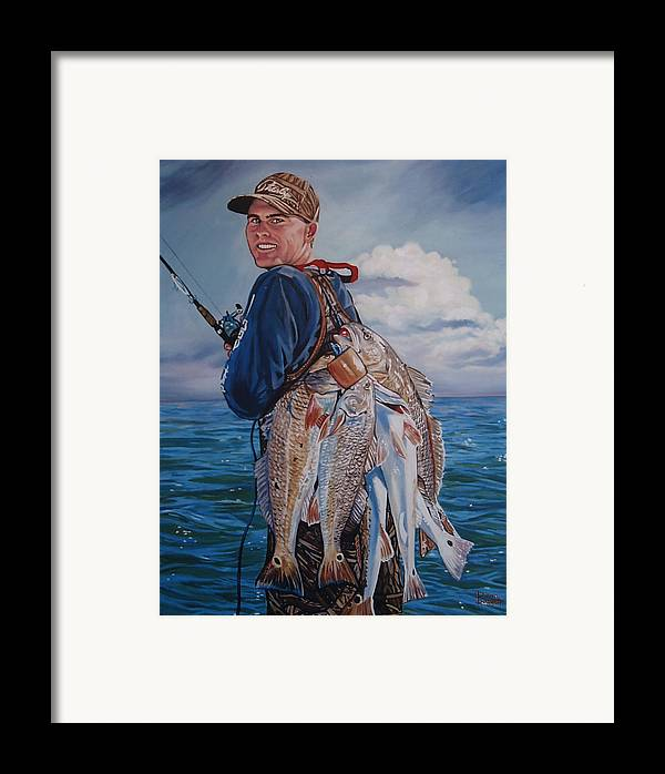 Portrait Framed Print featuring the painting Cory by Diann Baggett