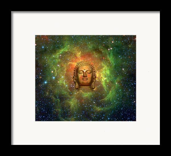 Buddha Framed Print featuring the digital art Cosmic Buddha by Jody Brusca