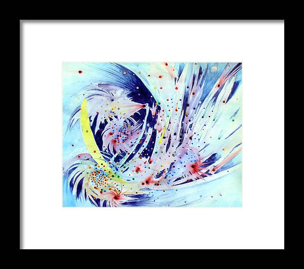 Abstract Framed Print featuring the painting Cosmic Candy by Steve Karol