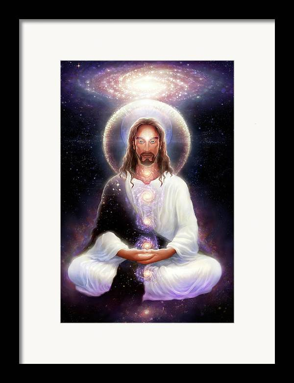 Christ Framed Print featuring the digital art Cosmic Christ by George Atherton