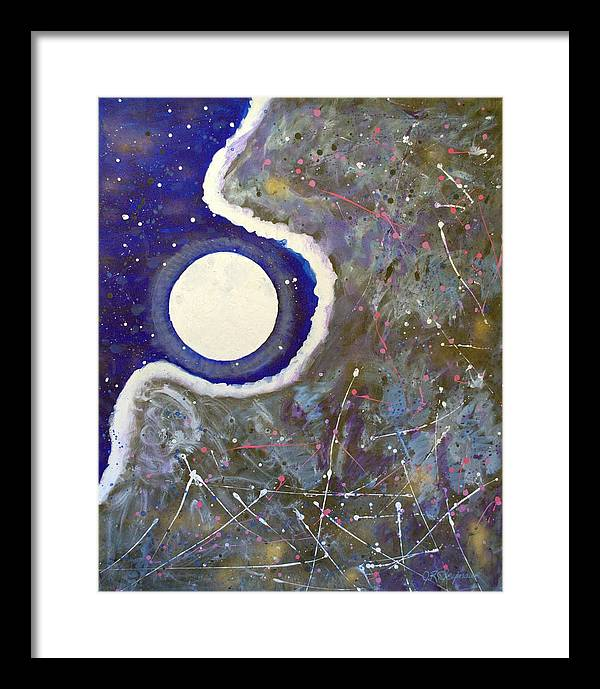 Impressionist Painting Framed Print featuring the painting Cosmic Dust by J R Seymour